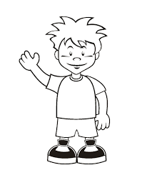 Boy Coloring Page Free Printable Pages For Kids Images