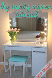 Diy Corner Desk With Storage by Prop Up 5 Walmart Mirror With Lamps Around Paint A Cheap Desk