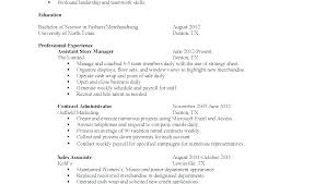 High School Resume Objective Examples For First Job Example Of Resumes Teenager Teens Inside