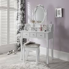 Ebay Dressers With Mirrors by White Dressing Table With Drawers Mirror And Stool Vanity Decoration