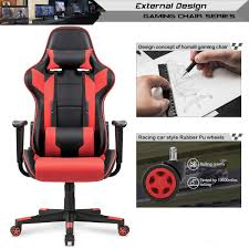 Ergonomic Gaming Chair (Red) 5 Best Gaming Chairs For The Serious Gamer Desino Chair Racing Style Home Office Ergonomic Swivel Rolling Computer With Headrest And Adjustable Lumbar Support White Bestmassage Pc Desk Arms Modern For Back Pain 360 Degree Rotation Wheels Height Recliner Budget Rlgear Every Shop Here Details About Seat High Pu Leather Designs Protector Viscologic Liberty Eertainment Video Game Backrest Adjustment Pillows Ewin Flash Xl Size Series Secretlab Are Rolling Out Their 20 Gaming Chairs