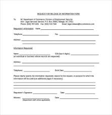 9 Release Information Form Download for Free