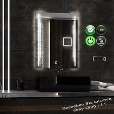 spiegel kosmetikspiegel uhr led badspiegel modern 80x60