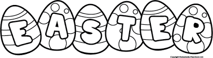 Easter Clip Art Black And White – Happy Easter 2018