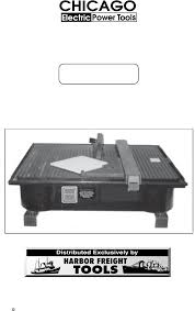 harbor freight tile saw manual harbor freight tools saw 03733 user guide manualsonline