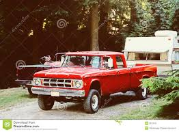 Truck And Camping Trailer Stock Image. Image Of Camping - 9213151