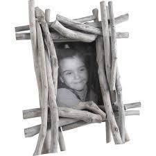cadre photo en bois flotté et verre