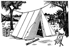 Free Camping Clipart Black And White Dromfgi Top 2