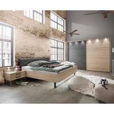 design schlafzimmer set in eiche optik und dunkelgrau schwebetürenschrank 4 teilig