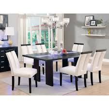 Cheap Kitchen Table Sets Free Shipping by Furniture Of America Luminate Led Dining Table Espresso Hayneedle