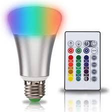 10w led multicolor rgb white a19 light bulb torchstar