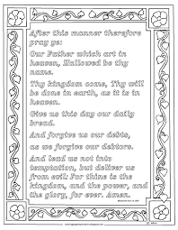 Matthew 69 12 The Lords Prayer Print And Color Page