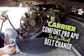 Carrier Comfort Pro APU Alternator Belt Change | APU Maintenance ...