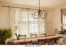Chandelier Over Dining Room Table by Dining Room Table Cloth Stock Photos U0026 Dining Room Table Cloth