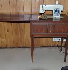 vintage sears kenmore sewing machine in cabinet ebth
