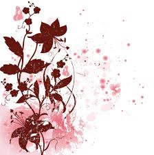 Red Flower Clipart Floral Vector 7