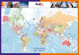 carte murale du monde politique fedex fond de carte vectoriel