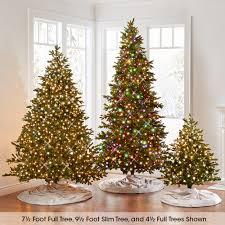 Noble Fir Artificial Christmas Tree by The World U0027s Best Prelit Noble Fir 6 5 U0027 Slim Hammacher Schlemmer