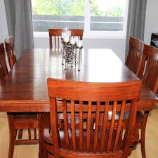 Solid Mission Style Dining Table Chairs And Hutch