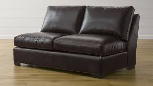 Crate And Barrel Axis Sofa Leather by Axis Ii Leather Armless Full Sleeper Sofa Crate And Barrel