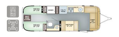 Travel Trailer Floor Plans With Bunk Beds by Floorplans Flying Cloud Airstream