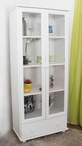 esszimmerschrank vitrine 80 cm breit kiefer massiv optik weiß