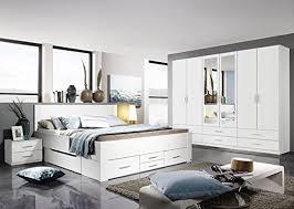 rauch schlafzimmer komplettangebot drehtürenschrank 6 türig schubkastenbett 180 x 200 cm 2 nachtkonsolen alpinweiß