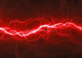 Download Red Fantasy Fractal Lightning Stock Illustration