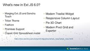 sencha roadshow 2017 innovations in ext js 6 5 and beyond