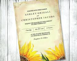Best Of Rustic Sunflower Wedding Invitations For Country 48