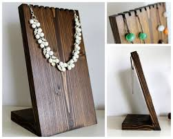 Wooden Necklace Display Board Bust Jewelry Stand Craft Show Retail Fixture Holder Available In Many Sizes And Colors