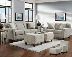 Nolana Charcoal Sofa Set by Slate Sofa And Loveseat Fabric Living Room