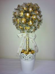 Ferrero Rocher Christmas Tree Diy by Large Ferrero Rocher Lolly Tree With Christmas Ribbon Chocolate