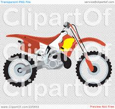 1080x1024 Royalty Free RF Clipart Illustration Of A Red Dirt Bike By David