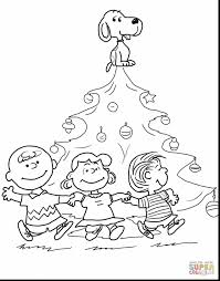 Christmas Tree Coloring Page Print Out by Amazing Charlie Brown Christmas Coloring Pages Alphabrainsz Net