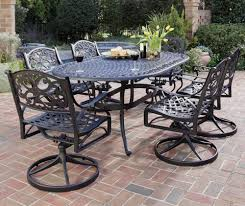 Darlee Patio Furniture Nassau by Home Styles Biscayne 7 Piece Outdoor Dining Set With Swivel Arm