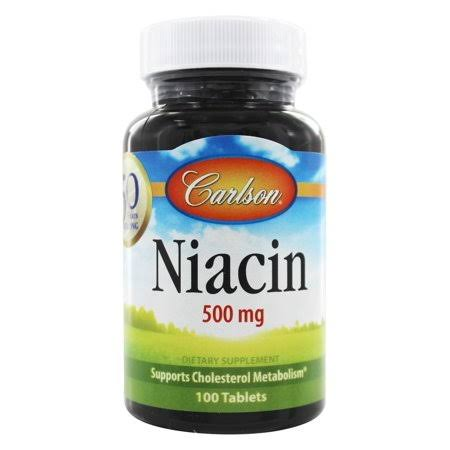 Carlson Laboratories Niacin Dietary Supplement - 100 Tablets