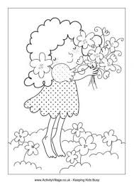 Spring Bouquet Colouring Page