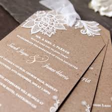 Chiffon Lace Wedding Day Invitation