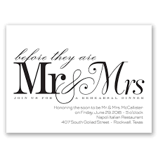 Before Mr Mrs Petite Rehearsal Dinner Invitation