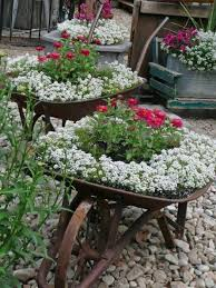 Rustic Flower Garden Container Carts