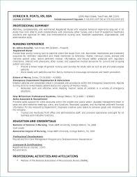 Experienced Nursing Resume Examples Best Of Nurse Inspirational Fresh Bsn