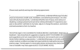 Pregnancy Yoga Class Waiver Form