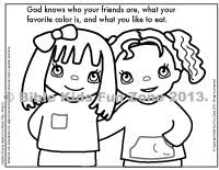 Coloring Page Of Multicultural Children Who Are Friends Day 4 Creation