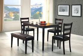 Perfect For An Apartment Or Small Dining Room This Five Piece Bench Set Is Dinner Table