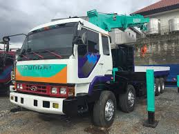 Hyundai 14 Wheeler Boom Truck With 15 Tons Crane For Sale!! Quezon ...