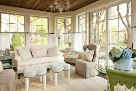 Shabby Chic White Ceiling Fans by Interior Great Looking Sunroom Interiors Design With White