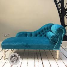 Mimi Teal Velvet Chaise