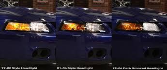 mustang headlight installation comparison 99 04 new edge