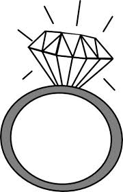 Wedding ring engagement ring clipart clipartfest